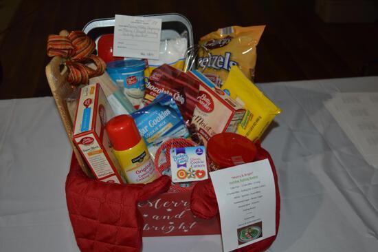 Merry & Bright holiday baking basket (1571)