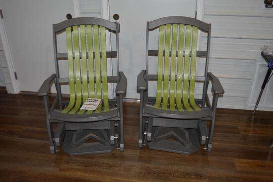 2 swivel glider composite outdoor chairs (1543)