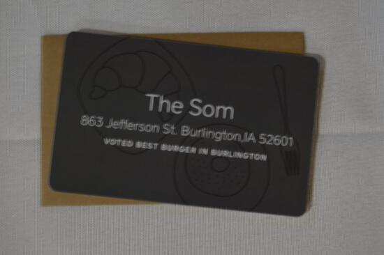The Som $100 gift card (1336)
