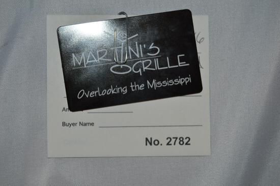 Martini's $100 gift card (2782)