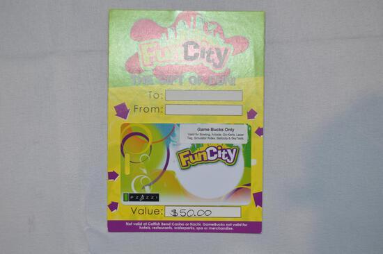 $50 gift card to Fun City (1411)