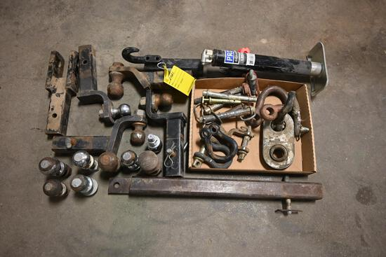 Misc. reese hitches, pins, clevis, equipment jack