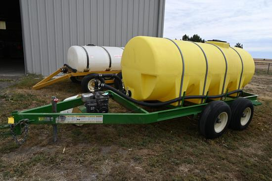 Schaben 1000-gallon poly liquid tender on tandem axle trailer