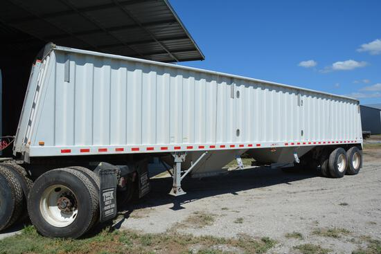 2005 Jet 38' steel hopper bottom grain trailer