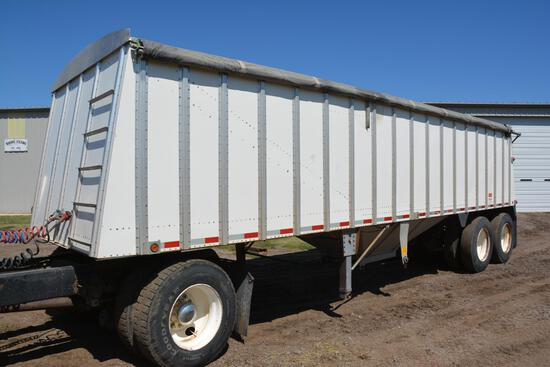 1995 Merritt 30' alum. hopper bottom grain trailer