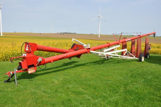 """Buhler Farm King 1060 10""""x60' swing-away auger"""