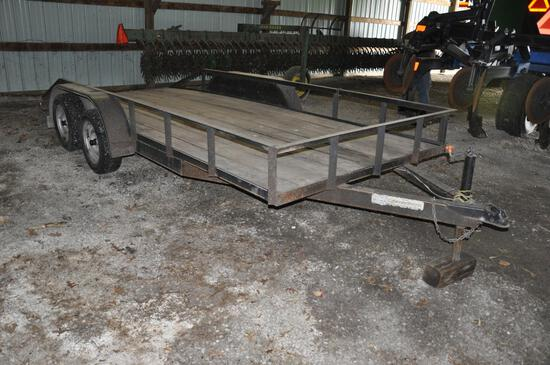 Double-T 16' flatbed trailer