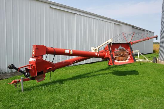 """Buhler Farm King 1070 10""""x70' swing-away auger"""