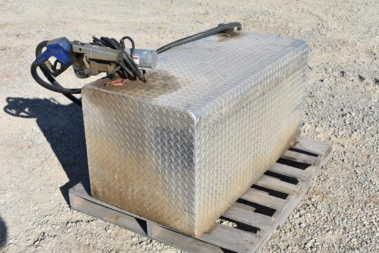 150 gal. diamond plate fuel transfer tank