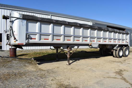 1993 East 40' aluminum frameless dump trailer