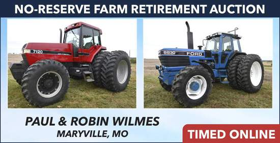 No-Reserve Farm Retirement Auction - Wilmes