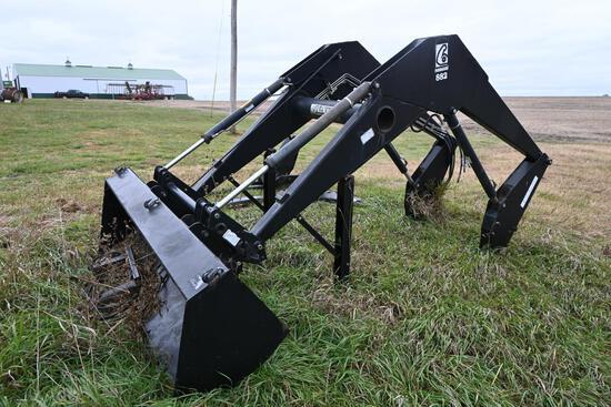 "Farm Hand 882 loader w/96"" material bucket"