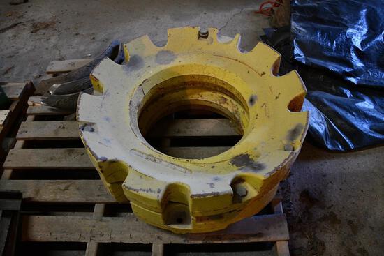 (2) John Deere 450 lb. wheel weights