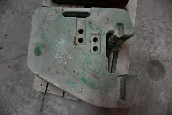 (8) John Deere front suitcase weights