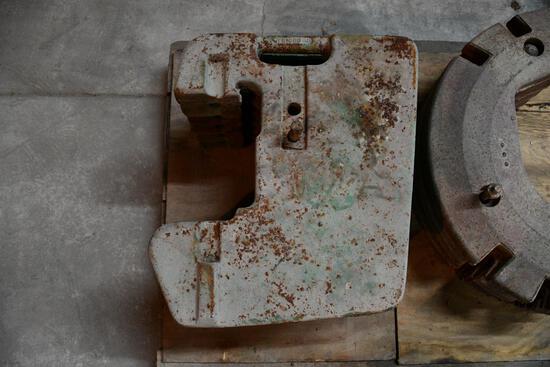 (6) John Deere suitcase weights