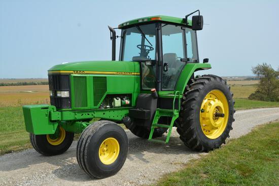 1992 John Deere 7800 2wd tractor