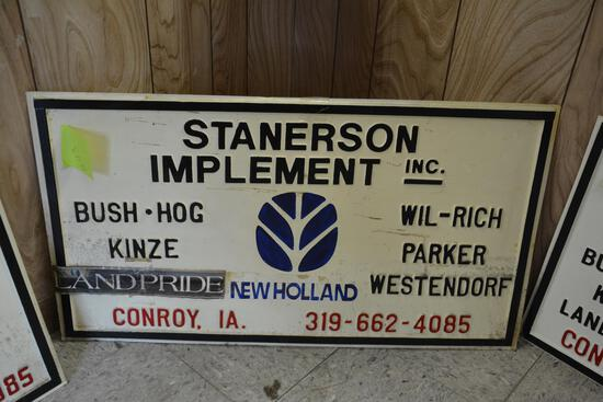 Stanerson Implement dealership sign
