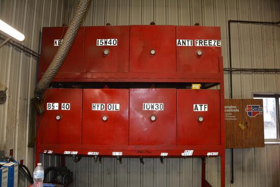 8 compartment fluid dispenser
