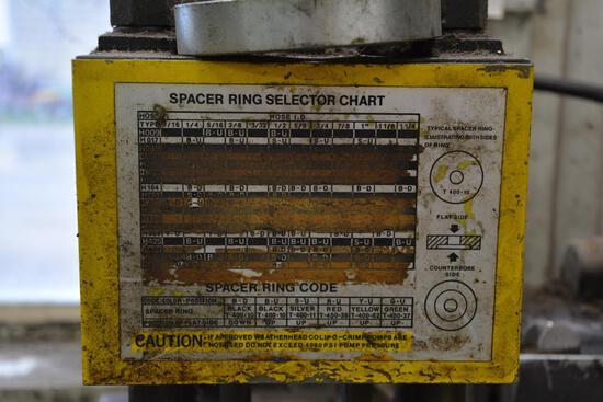 WeatherHead Collo-Crimp I Model T-400 hyd. crimping machine