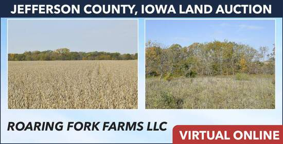 Jefferson County, IA Land Auction - Roaring Forks