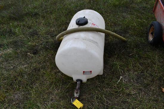 65 gallon poly tank with valve