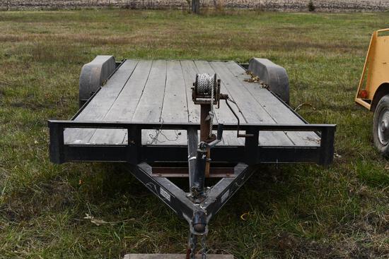 18' tandem axle bumper hitch car trailer