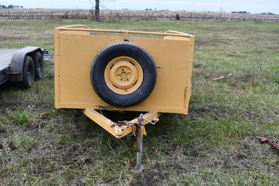 9'x5' home made single axle trailer