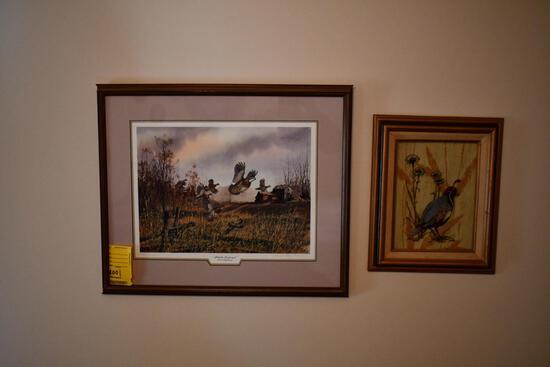 2 bird prints, (hillside explosion)