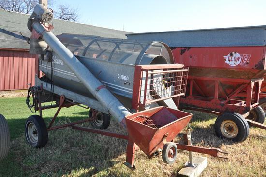 Hutchison C-1600 portable grain cleaner