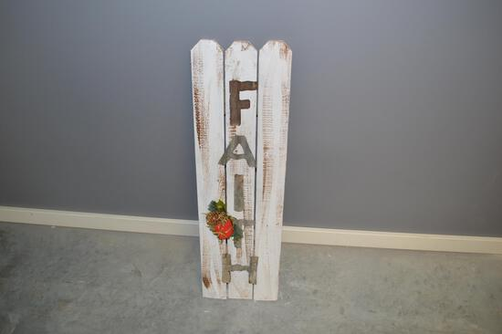 3 ft Wooden Faith Sign