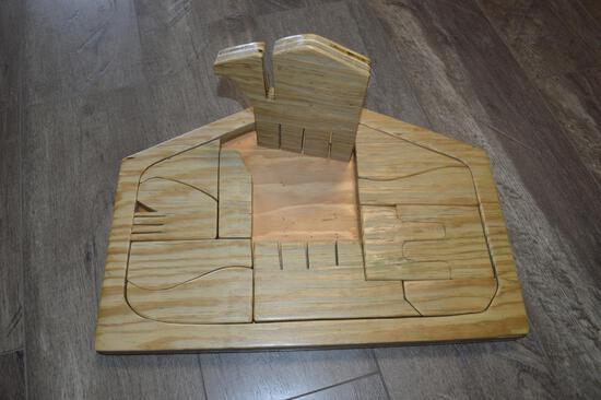Homemade Wooden Nativity Scene Puzzle