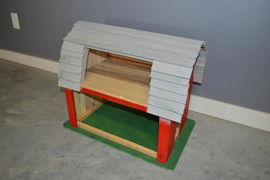 Children's Red Wooden Barn