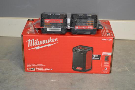 Milwaukee Radio & Charger w/ 2 Extra Batteries