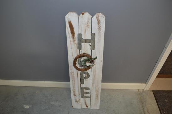 3 ft Wooden Hope Sign
