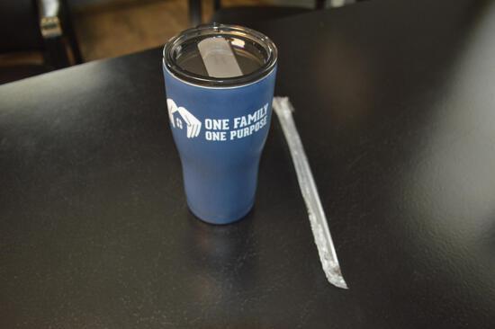 Matte Blue 20 oz OFOP Tumbler W/ Straw