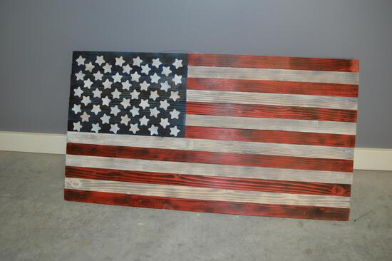 3ft Wooden American Flag Sign