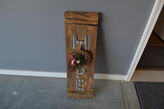 3ft Wooden Hope Sign