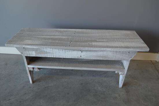 Gray Wooden Bench 15inX36in