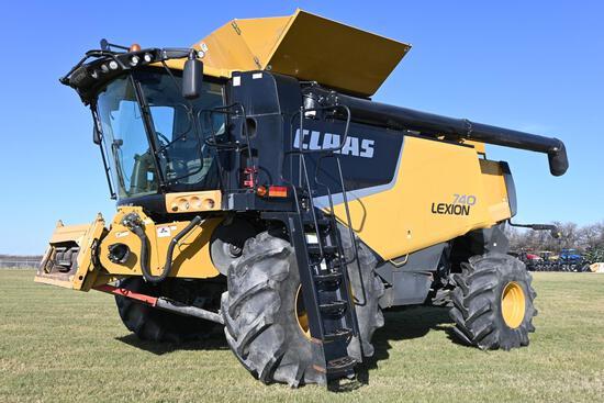 2011 Lexion 740W 4wd combine