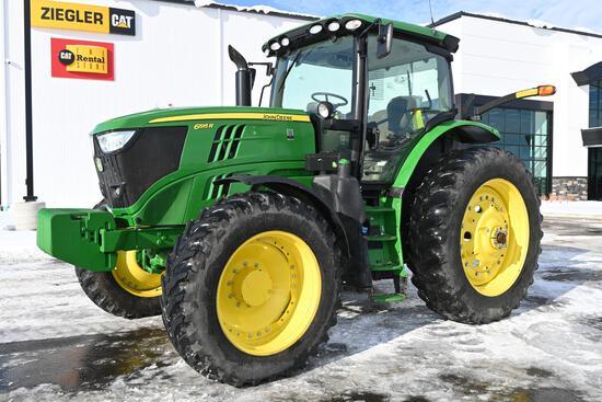 2018 John Deere 6195R MFWD tractor