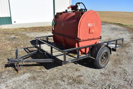 1999 Hulls Mfg. 10' bumper hitch trailer w/ 380 gal. fuel tank