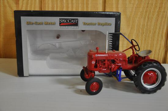international harvester cub tractor with side mount mower 1/16 scale