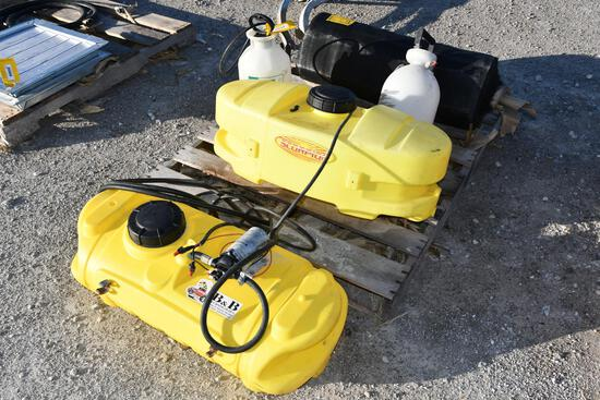 (2) 15 gal atv sprayers and (2) 2 gal hand sprayers
