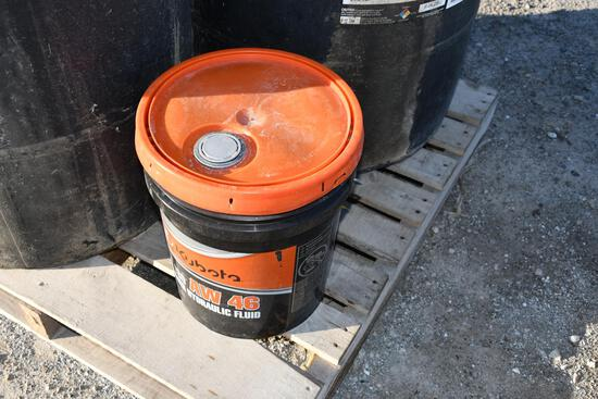 (1) 5 gal bucket of Kubota ISO AW 46 all weather hydraulic fluid