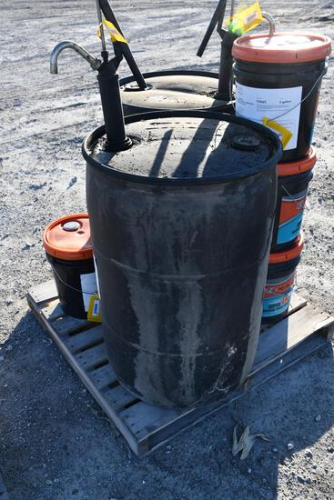 (1) 50 gal drum of 85W-140 oil with hand pump