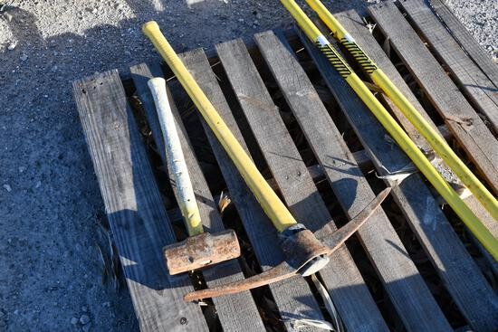 pick and sledge hammer