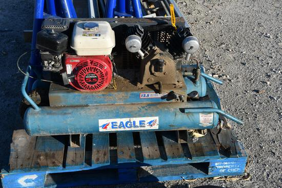 Eagle portable compressor with Honda 5.5 hp engine