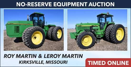 No-Reserve Equipment Auction - Martin
