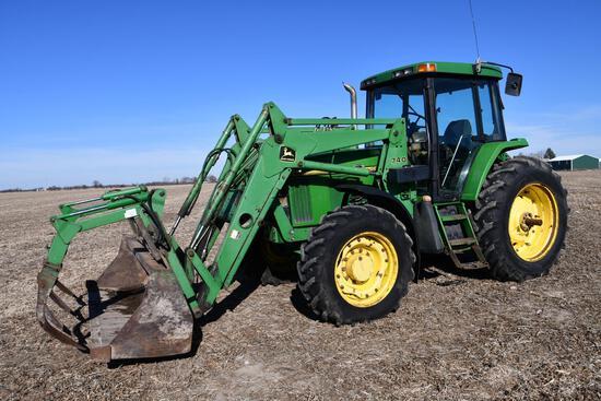 1996 John Deere 7400 MFWD tractor