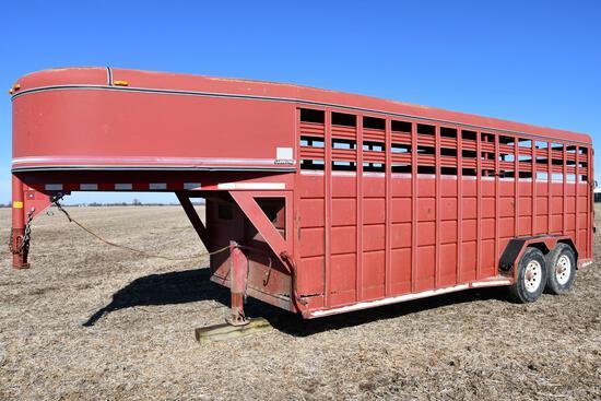 1996 Corn Pro 20' steel livestock trailer